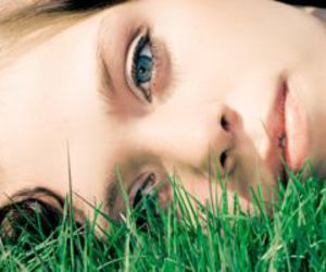 dreaming, grass, and eyes image