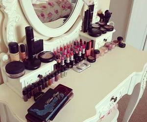 bedroom, forniture, and make up image