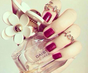 nails, perfume, and daisy image