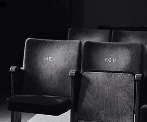 you, me, and black and white image