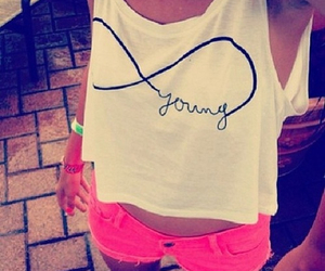 young, pink, and infinity image