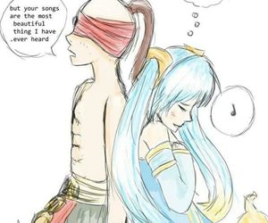 sona, league of legends, and lee sin image