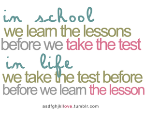 life, lesson, and school image