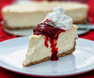 cake, cheesecake, and food image