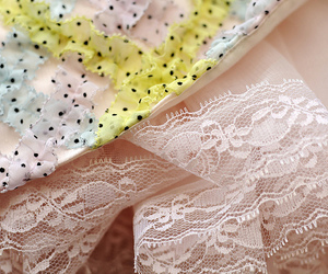 lace, pastels, and petticoat image