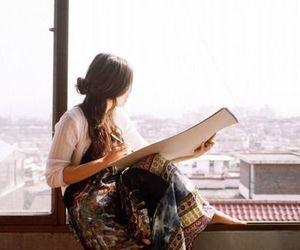 girl and window image