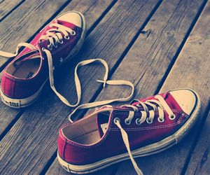 converse, heart, and red image