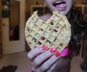 waffles and chocolate image