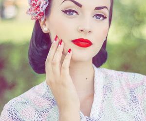 makeup, girl, and vintage image