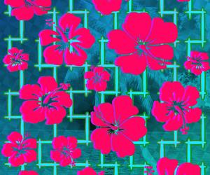 art, beach, and flowers image