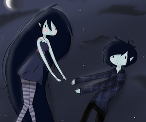 Moon Adventure Time And Marshall Lee Image