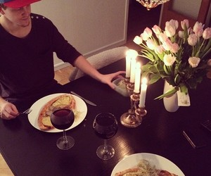 date, happy, and dinner image