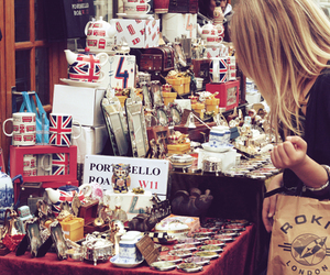 girl, london, and souvenirs image