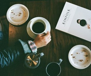 coffee, book, and vintage image