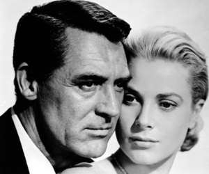 black and white, grace kelly, and cary grant image