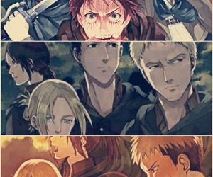 anime, shingeki no kyojin, and snk image