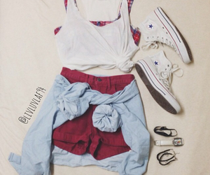 clothes, crop, and converse image