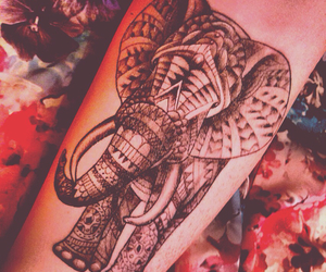 elephant, tattoo, and girlswithtattoos image
