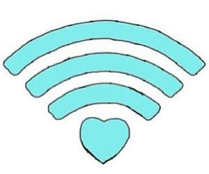 love, wifi, and overlay image