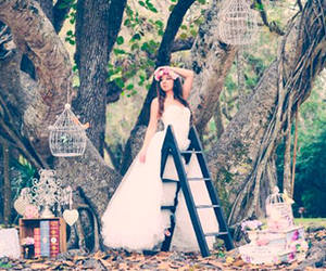 books, dress, and tree image