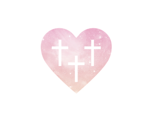 cross, galaxy, and heart image