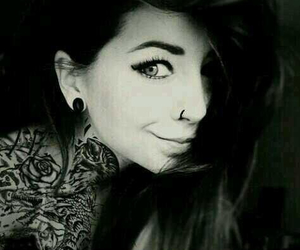fashion, makeup, and Piercings image