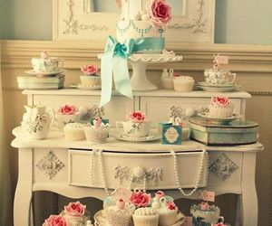food, cake, and cup cake image