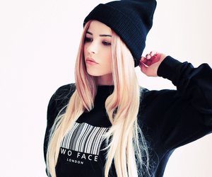 girl, hair, and blonde image