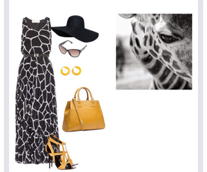 animal print, outfit, and dress image