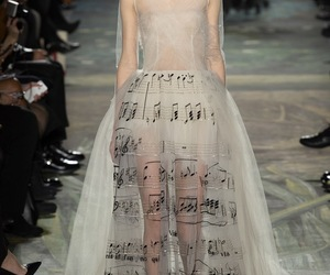 dress, music, and Valentino image