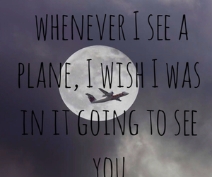 long distance, plane, and miss image