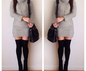 outfit, dress, and winter image