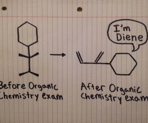 chemistry, exam, and funny image