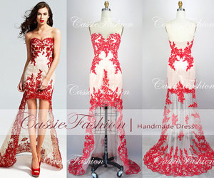 dress, lace dress, and Prom image
