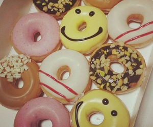 donuts, food, and smiley image