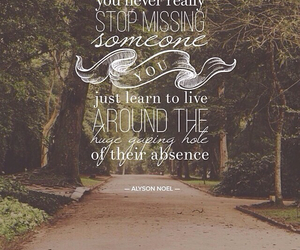 absence, missing, and love image