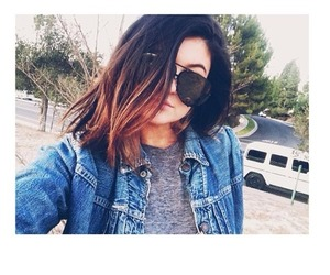 kylie jenner, hair, and sunglasses image