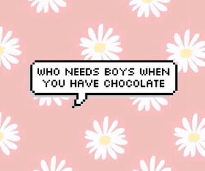boy, chocolate, and quote image