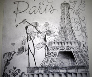 drawing, effiel tower, and paris image