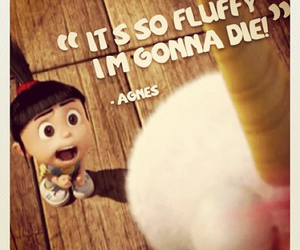 agnes, fluffy, and despicable me image