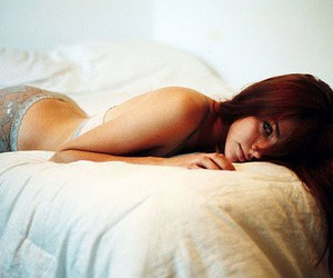 bed, redhead, and freckles image