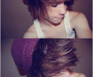 boy, piercing, and hair image