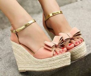 beige, pink shoes, and shoes image