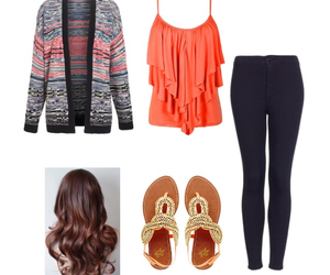 blouse, hair, and shoes image
