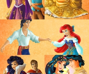 belle, jasmine, and rapunzel image