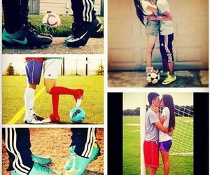 couple, love, and soccer image
