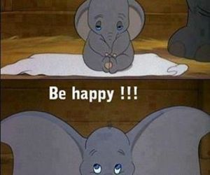 disney, happy, and dumbo image
