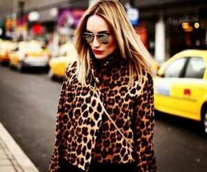 animal print, blonde, and fashion image