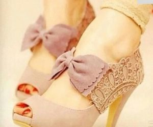 beige, pink shoes, and beautiful shoes image