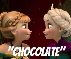 chocolate, sisters, and disney image